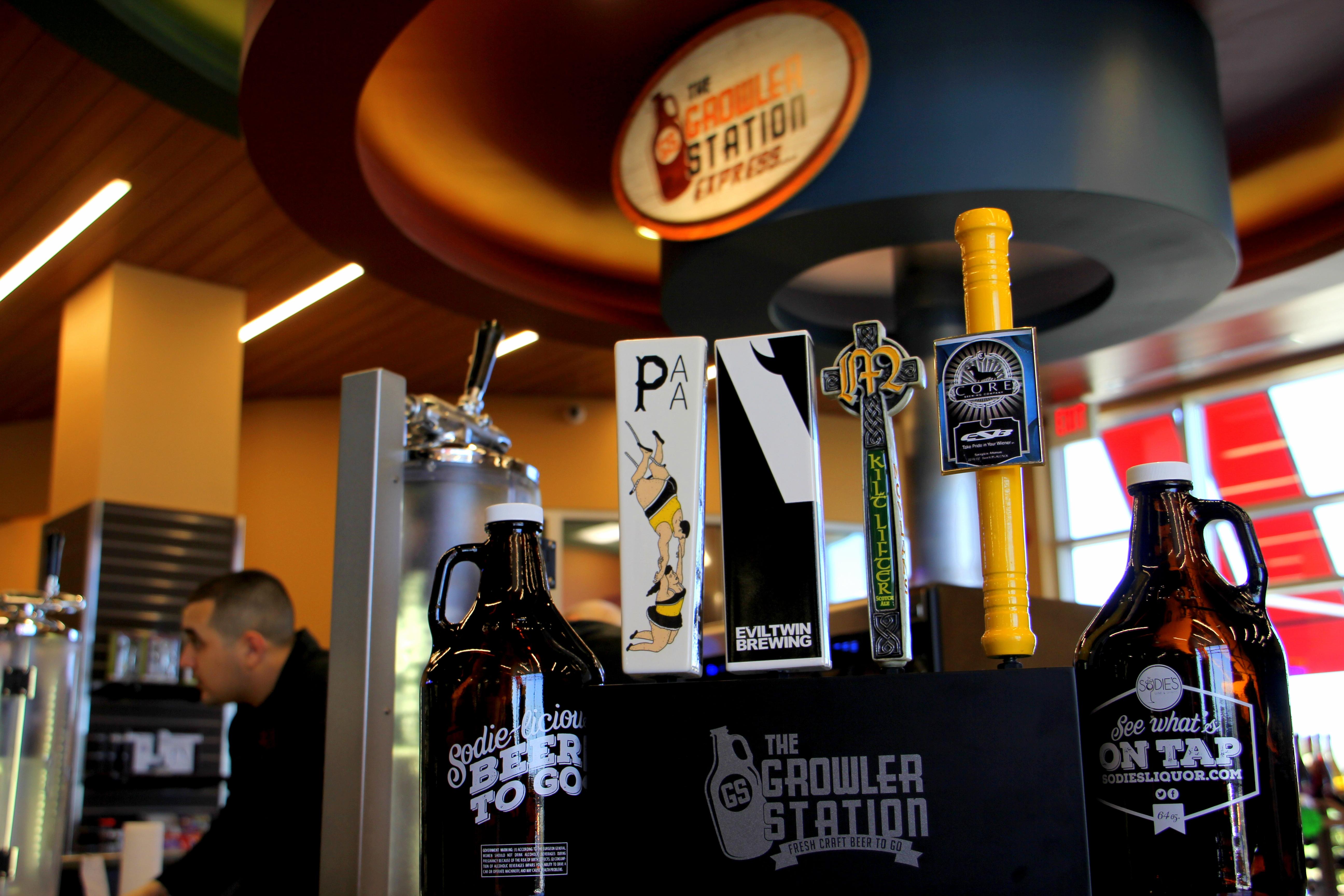 Beer On Tap & Beer Growlers - Sodie\'s